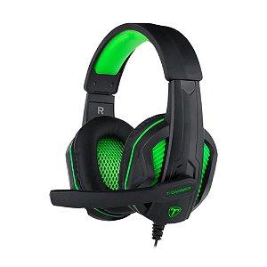 Headset Gamer T-Dagger Cook Preto/Verde RGH100