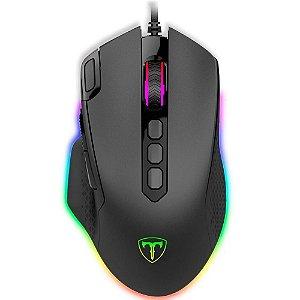 Mouse Gamer T-Dagger Bettle RGB, 8000DPI, 10 Botões, Preto