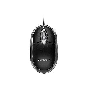 Mouse Multilaser Optico Classic Preto 1200 DPI USB Preto MO179