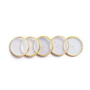 Discos + Elastico Dourado Caderno Inteligente  G (31mm)