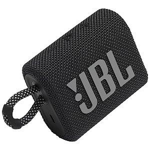 Caixa de Som JBL Go 3 Bluetooth 5.1 Portátil à Prova de Água 4,2W
