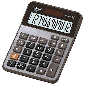 Calculadora de Mesa Casio MX-120B-S4-DC Prata Alimentação Solar 12 Digitos