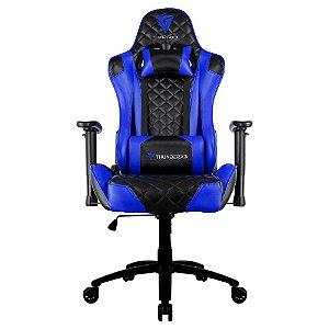 Cadeira Gamer Profissional Thunderx3, TGC12, Preta/Azul