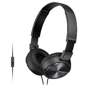 Headphone Sony MDR-ZX310AP Preto com Microfone Integrado