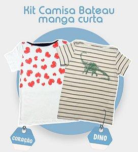 Kit com 2 Camisas Bateau Malha