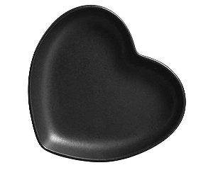 Prato Básico Coração Black - M