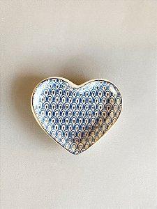 Mini Prato Cerâmica Coração