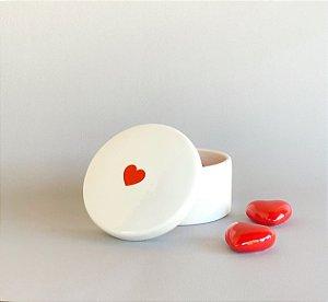 Potiche Cerâmica Coração