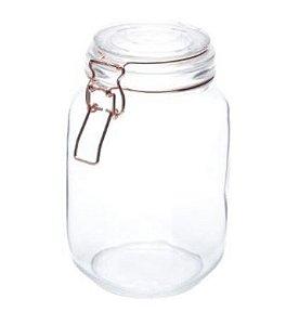 Pote de Vidro Hermético Transparente - G