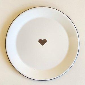 Prato Ágata Branco - Coração