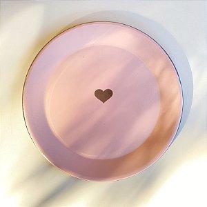 Prato Ágata Rosa - Coração