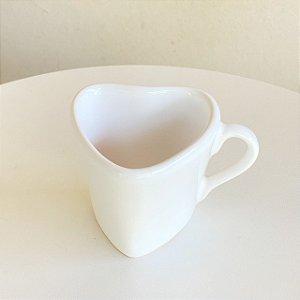 Xicara Coração - Branca - 120 ml