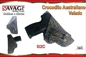Coldre Couro P Pistola - G2C - Velado