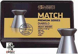 Chumbinho 4.5 Jsb Match Premium 8,02gr + Alvos 12 Alvos de Brinde  200pcs