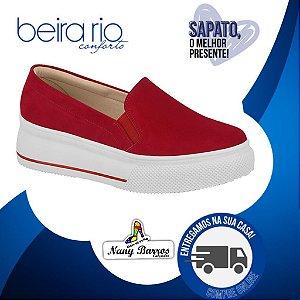 Slip On Beira Rio Flatform Vermelho