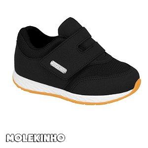 Tênis Molekinho Com Velcro Preto Infantil