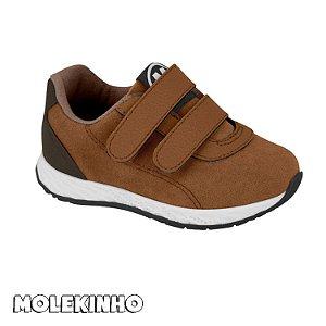 Tênis Molekinho Velcro Camel