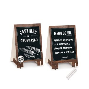 KIT CAVALETE DEC DE MESA CHURRASCO C/2 - UN X 1