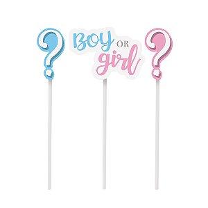 TOPO DE BOLO ESPETO BOY OR GIRL C/3 - UN X 1