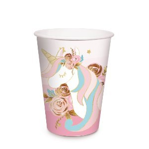 COPO PAPEL 240ML UNICORNIO C/8 - PC X 1