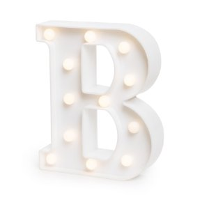 LUMINOSO C/LED BRANCO LETRA B - UN X 1