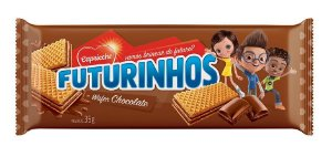 WAFER 35G FUTURINHOS CHOCOLATE - UN X 1