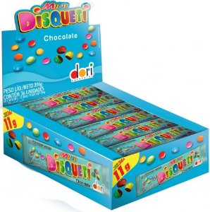 DISQUETI 11 G MINI CHOCOLATE - CT X 36