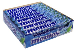 MENTOS 37,5 G TUBO ICE MINT - CT X 16