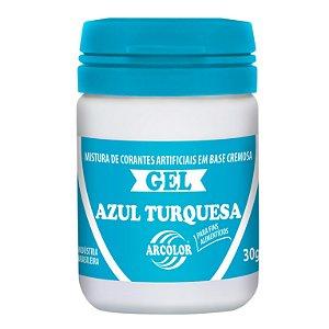 CORANTE GEL 30G ARCOLOR AZUL TURQUESA - UN X 1