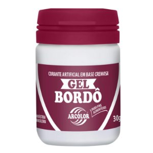 CORANTE GEL 30G ARCOLOR BORDO - UN X 1