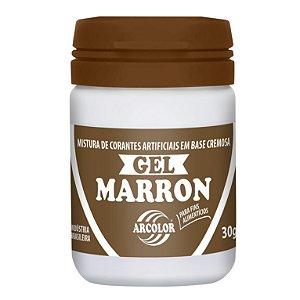 CORANTE GEL 30G ARCOLOR MARROM - UN X 1