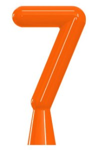 VELA ANIVER NEON LARANJA NUMERO 7 - UN X 1