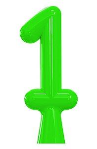 VELA ANIVER NEON VERDE NUMERO 1 - UN X 1