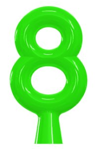 VELA ANIVER NEON VERDE NUMERO 8 - UN X 1