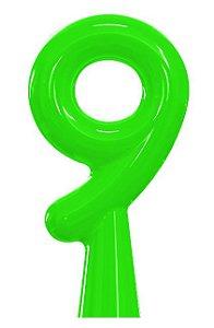VELA ANIVER NEON VERDE NUMERO 9 - UN X 1