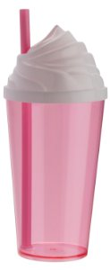 COPO CHANTILLY 550 ML ROSA FLUORESC - UN X 1