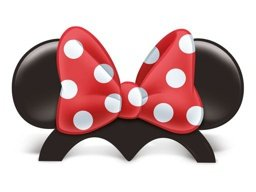 ACESS DE PAPEL ORELHAS RED MINNIE C/8 UN - PC X 1
