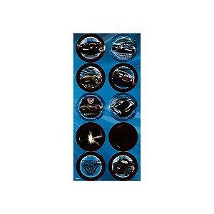ADESIVO DEC C/3 UN REDONDO CARS - PC X 1