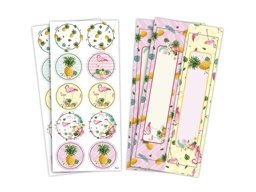 ADESIVO PAPEL RET/RED FLAMINGO C/4 - PC X 1