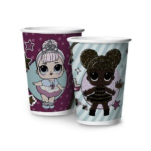COPO 180ML PAPEL BONECA LOL C/8 - PC X 1