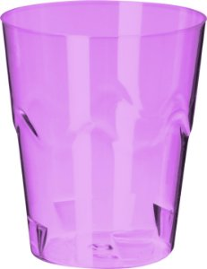 MINI COPO 25 ML DOCE ROXO NEON - PC X 10