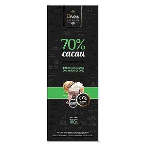 TAB 100G DIVINE AMARGO 70% C/ ACUCAR COCO