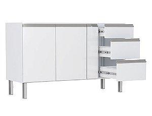 Cozinha em Aço Gaia Flat 146/158