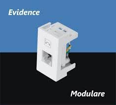 Módulo Tomada para Telefone RJ11 - 2 Vias - Modulare / Evidence