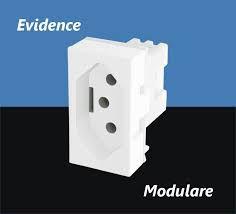 Módulo Tomada 2P+T 250V - Modulare / Evidence