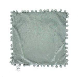 Capa de Almofada Pompom Cinza