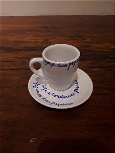 Xícara Café c/pires Portuguesa bco