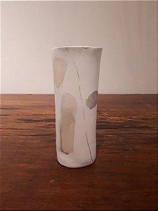 Vaso Porcelana Encontros G creme 30x9cm