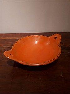 Prato Cerâmica Curvo c/Alça M lar 48x15cm