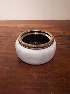 Cachepot Cerâmica P cz/dour 10x18cm